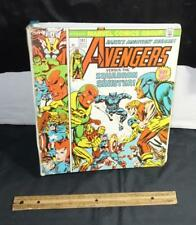 Vintage Avengers Marvel Comics Super Hero Iron Man Captain America 3 Ring Binder