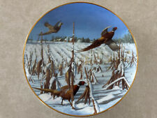 Startled Ringnecks by David Maass Pheasant Plate Collection Danbury Mint
