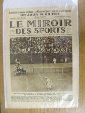 22/09/1926 le miroir des sports-Hebdomadaire Français Pictorial magazine: Nº 0336-B
