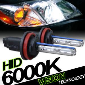 6000K Hid Xenon H11 Low Beam Headlights Headlamps Bulbs Pair Conversion Kit Ve5