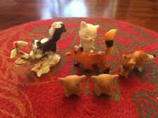 Lot of 6 Vintage Animal Figurines/Plastic/China/P orcelain/Hallmarked-60's-7 0's