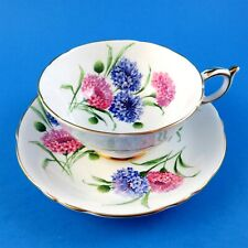 Pink and Blue Cornflowers Paragon Tea Cup and Saucer Set