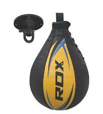 Rdx Leather Boxing Speed Bag Punching Ball With Swivel Training Mma Speed Ball U