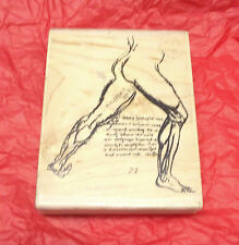 Stampington & Company Risque rubber stamp Male Physique Art Class style collage