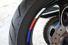 "4x hp colors RIMS WHEELS VINYL STICKER STRIPES RIM FOR 17"" MOTORCYCLE s1000rr"
