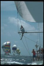 172020 Checking The Spinaker At Antigua Race Week 1989 A4 Photo Print