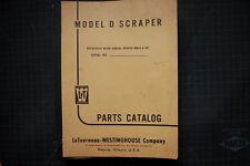 Letourneau Westinghouse Modello D Tournapull Scraper Parti Manuale Libro Catalog