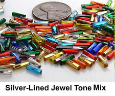 7mm Twisted Bugle 10-Grams Preciosa Czech Glass Beads Tubes Choose Color