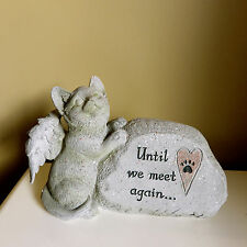 MEMORIAL STONE FOR CAT COMPANION GARDEN STONE BEREAVEMENT RESIN