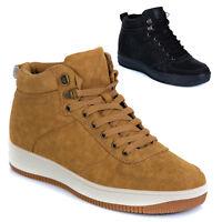 Scarponcini Stivali Stivaletti Scarpe Uomo Donna Pelle PU Anfibi Sneakers T47-3
