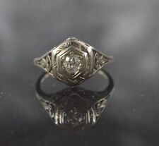 RW329  14k white gold ENGAGEMENT, ESTATE ,approx..35ct. t.w. diamond  ring