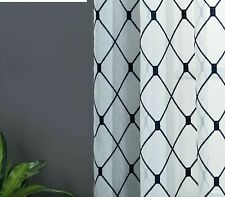 Geometric Embroidered Sheer Curtains Tulle Window Kitchen Living Room Bedroom