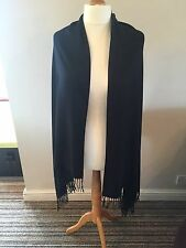 PASHMINA SCARF LARGE 90% Cashmere 10% Silk .  Glamorous Black .
