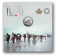 2019 Canada 75th D-Day Juno Beach 99.99% Pure Silver Coin WWII War History D-Day