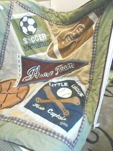 Cocalo Sports Crib Bedding Quilt Comforter Home Team Blanket Football 40x34