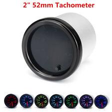 """2"""" 52mm Tachometer Tacho Gauge 0-8000RPM 7 Colors LED Display 12V Auto Car Truck"""