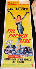 THE FRENCH LINE! '54 JANE RUSSELL CLASSIC RARE ORIGINAL INSERT FILM POSTER!