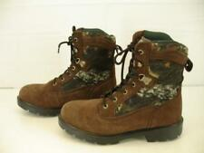 Mens 8 M Brahma Hunter Thinsulate Insulated Suede Brown Camo Boots Hunting Work