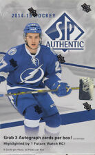 2014-15 Upper Deck SP Authentic Hockey Factory Sealed Hobby Box - 3 Autos Per Bx