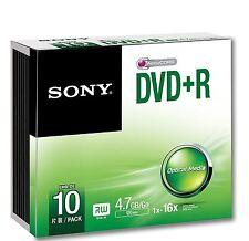 Sony DVD+R 120 Minutes 4,7 GO 16 X Vitesse Enregistrable Disques Vierges