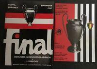 1977 & 1985 LIVERPOOL European Cup Final Replica Programmes v JUVENTUS/BORUSSIA