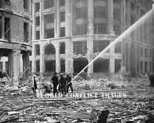 RAF WW2 Firemen Spray Germany Bombing London 1940 8x10 Photo The Blitz