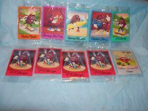 Vintage 9 Hardee's California Raisins Trading Cards Sealed Pkg + 1 Lance Leader
