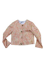 DOLCE & GABBANA KIDS Girl's Coral and Gold Brocade Button Front Jacket (5)
