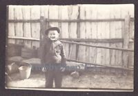 Funny Smiling Boy Kid Сlothing Dress Soviet Russian Vintage Old Homemade Photo