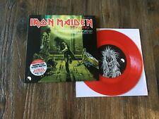 Iron Maiden-Running Free/Red vinyl single EP/MINT