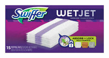 SWIFFER 15 ct WetJet Cleaning Mopping Pads Floor Cleaner Refill Cloths Dust