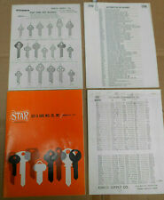 Lot Vintage Old 1973 STAR Key Blanks Catalog Plus Extras Locksmith Supplies