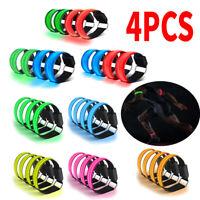 4pcs Night Safety Reflective LED Luminous Wristband Unisex Sport Glowing Armband