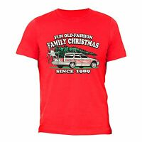 Mens Fun Old Fashioned Family Christmas Vacation Griswold Ugly Sweater T-shirt