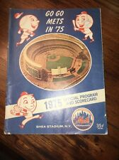 Vintage Mlb New York Mets Go Go Mets In 75 Official Program Shea Stadium Ny