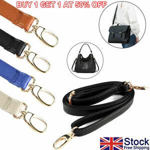 Replacement Bag Strap Soft Leather Band Belt for Crossbody Handbag Adjustable UK