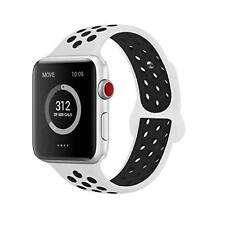 L&O Compatible for Apple Watch Bands 38mm White and Black