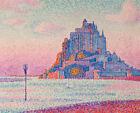 Mont Saint-michel Setting Sun Paul Signac Landscape Painting Print CANVAS Small