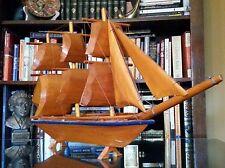 Vintage handmade Wooden Boat Folk Art ~ Tramp art Ship
