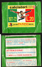 Bustina Figurine Calciatori Panini 1971-72! Versione Verde! Sigillata!