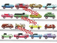 HOT WHEELS REDLINES MATTEL FIRST YEAR 16 CARS ART PRINT COLLECT THEM ALL