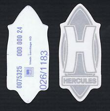 """Original Hercules """"H"""" Aufkleber Silber, UV und wetterbeständig  ABSOLUT SELTEN!"""