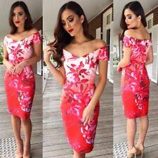 Floral Dress Size 16 Red Floral