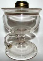"Antique ""Globe"" Lomax Footed Hand Lamp Kerosene Oil Guard Trademark 1870"