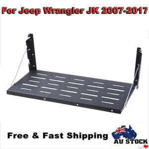 Tailgate Table Rear Door Foldable Table Storage Bracket Shelf For Jeep Wrangler