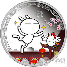 TUZKI Lunar Year of the Rooster Silver Coin 1$ Tuvalu 2017