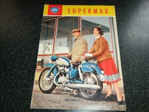 NSU SUPERMAX 1953 1954 1955 1956 MOTORRAD BROCHURE PROSPEKT EXCEPTIONAL