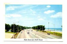 Outer Drive Postcard North Avenue Beach Chicago Illinois Lincoln Park Vintage