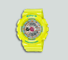 Authentic G-Shock BabyG Neo Pastel Yellow Analog Digital Ladies Watch BA110CA-9A