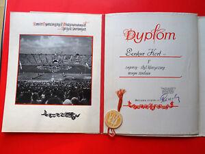 Kampfsport Ringen Warszawa Warschau Polen Polska Foto Urkunde Dyplom 1955